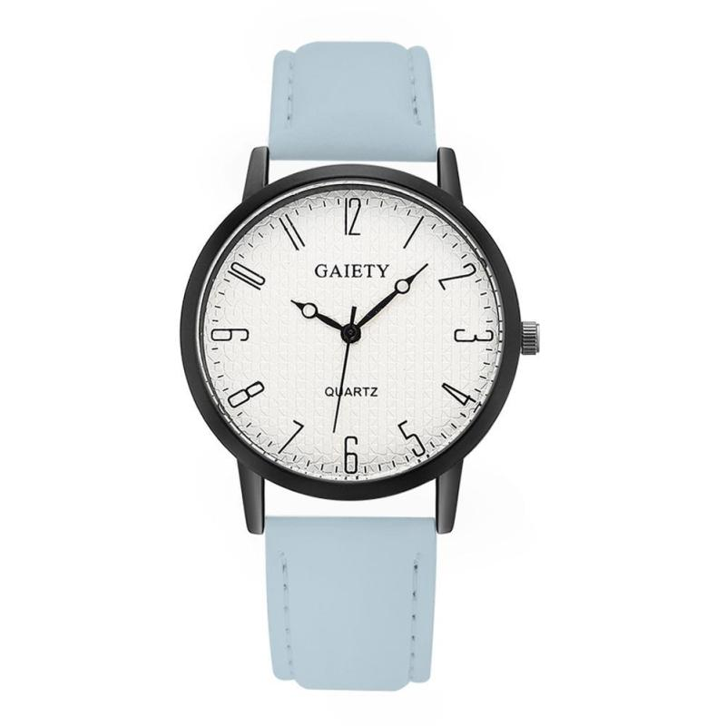 Nơi bán GAIETY Brand Unisex Sports Top Digital Leather Quartz Watch (Blue) - intl