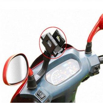 Giá đỡ kẹp điện thoại gắn kính chiếu hậu xe máy xoay 360 độ cao cấpH21-ĐEN