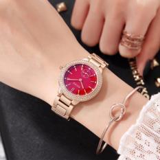 [GIÁ KỊCH SÀN] Đồng hồ nữ GUOU chất liệu dây thép kim rốn trẻ trung G42-21