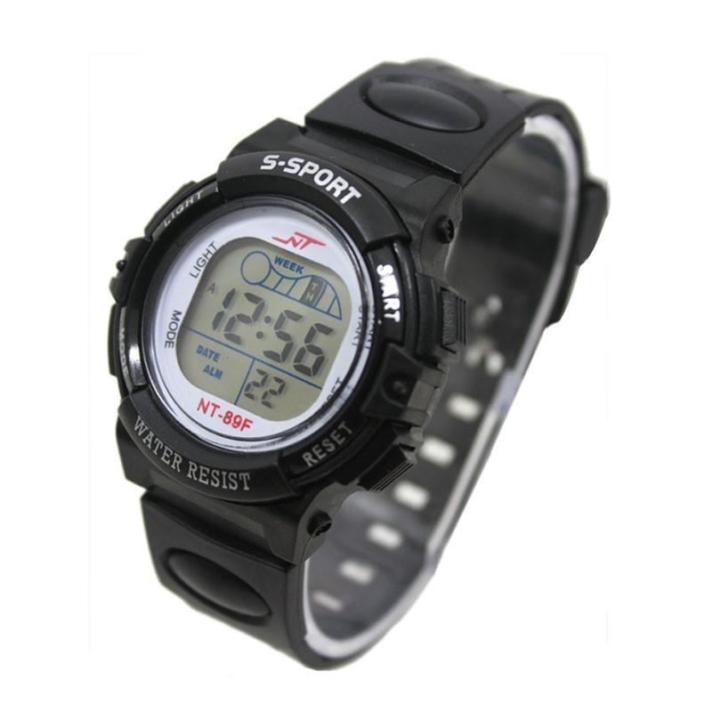 Girl Boy LED Light Wrist Watch Alarm Date Digital Multifunction Sport BK - intl bán chạy