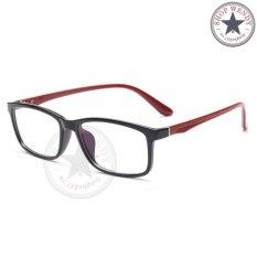 Gọng kính cận unisex K190 (Đen phối đỏ)