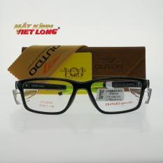 Gọng kính Outdo GT62009-C25 55-17 (Gọng nhựa đen, càng đen pha xanh)