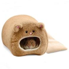 Hamster Mùa Đông Ấm Lồng Hình Gấu Lông Cừu Nhà có Giường Ngủ cho Thú Cưng Nhỏ Màu Sắc: Nâu Quy Cách: 11*11 cmbrown-quốc tế