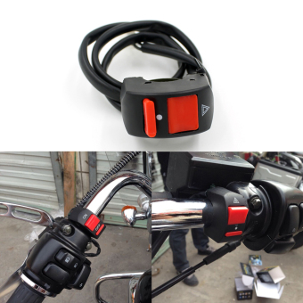 Handlebar Motorcycle Accident Hazard Light Switch On/Off