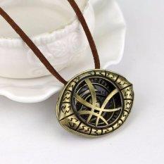 Hequ Mới Sang Trọng Mắt của Agamotto Bùa Hộ Mệnh Nam Đồng Cổ Vòng Cổ Mặt Dây Chuyền Vàng Đồng-quốc tế