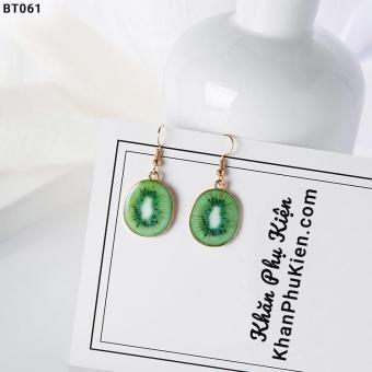 Hoa Tai Nữ Họa Tiết Lát Kiwi - Mã BT061 green