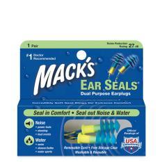 Hộp 1 đôi nút bịt tai 2 chức năng Mack's Ear Seals (Chống ồn, chống nước) #11 (Nhập khẩu Mỹ)