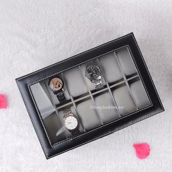 Hộp đựng 12 chiếc đồng hồ và trang sức Olivin LA254 - 2