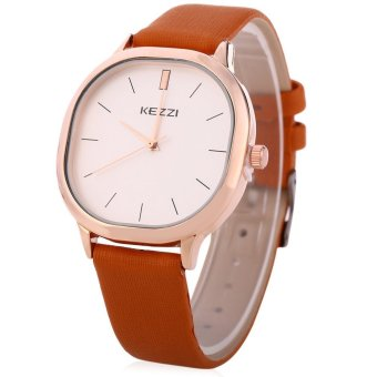 KEZZI K - 1155 G Men Quartz Watch Business Style Wristwatch (BROWN) - intl