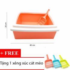 Khay đựng cát vệ sinh cho mèo 1-5kg hình vuông – Khay cát 001