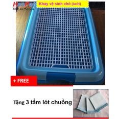 Khay vệ sinh cho chó (màu ngẫu nhiên) dạng lưới cải tiến (HoaMy A 377b)+ Tặng 3 tấm lót chuồng, sàn xe.