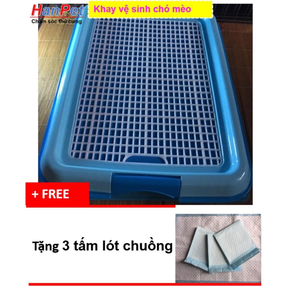 Giá Khuyến Mại Khay vệ sinh cho chó dạng lưới kiểu cải tiến (sunzin 377b)+ Tặng 3 tấm lót chuồng, sàn xe