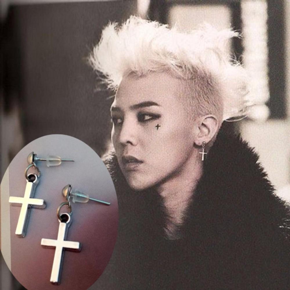 Khuyên tai Titan Thánh Giá Phong Cách G-Dragon KTTG01