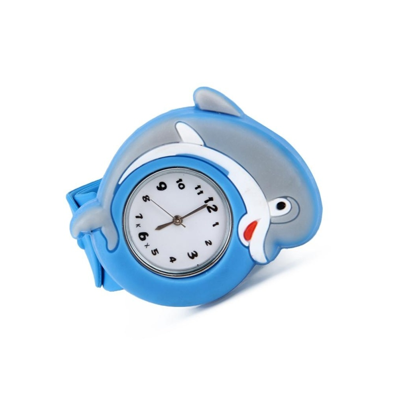Kids Blue Dolphin Silicone Slap-on Strap Quartz Movement Watch - intl bán chạy