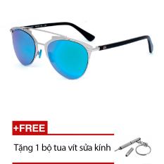 Kính mát Exfash EF5003 C94(xanh tròng tráng xanh) + Tặng 1 bộ tua vít sửa kính