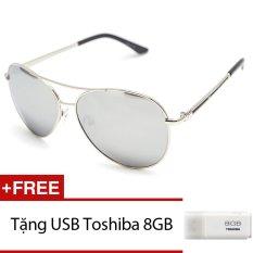 Kính mát nam MKH 7011 (Trắng tráng gương). + Tặng 1 USB Toshiba 8GB