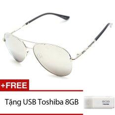 Kính mát nam MKH 7014 (Trắng tráng gương). + Tặng 1 USB Toshiba 8GB