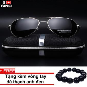 Kính mát nam thời trang cao cấp Sino SN688+ Tặng kèm vòng tay thạch anh đen