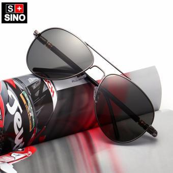 Giảm giá Kính mát nam thời trang màu đen Sino S2017