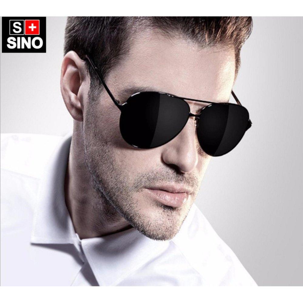 Kính mát nam thời trang Sino SN668 đen