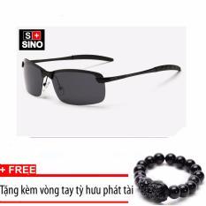 Giá bán Kính mát nam thời trang SINO SN687+ Tặng kèm vòng tay phong thủy