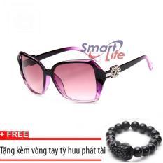 Giá Kính mát nữ Sino sành điệu S1046 tím+Tặng kèm vòng tay thạch anh tỳ hưu đen  Smart Life