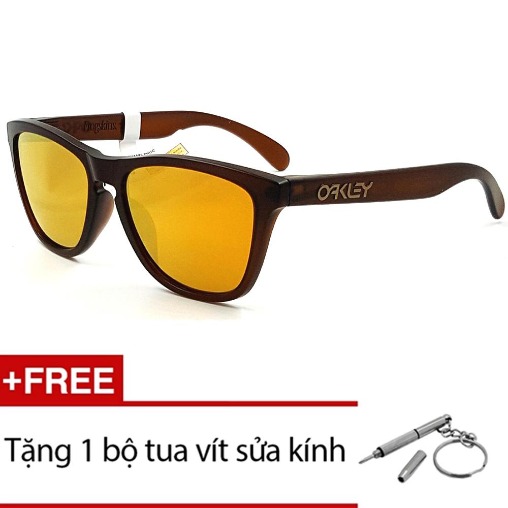 Kính mát Oakley FROGSKINS OO9245 04 (Đen) + Tặng 1 bộ tua vít sửa kính