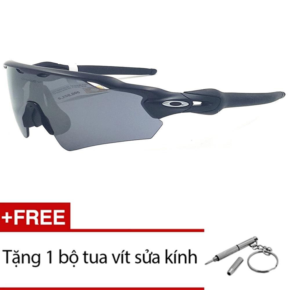 Kính mát Oakley RADAREV OO9275 01 (Đen) + Tặng 1 bộ tua vít sửa kính