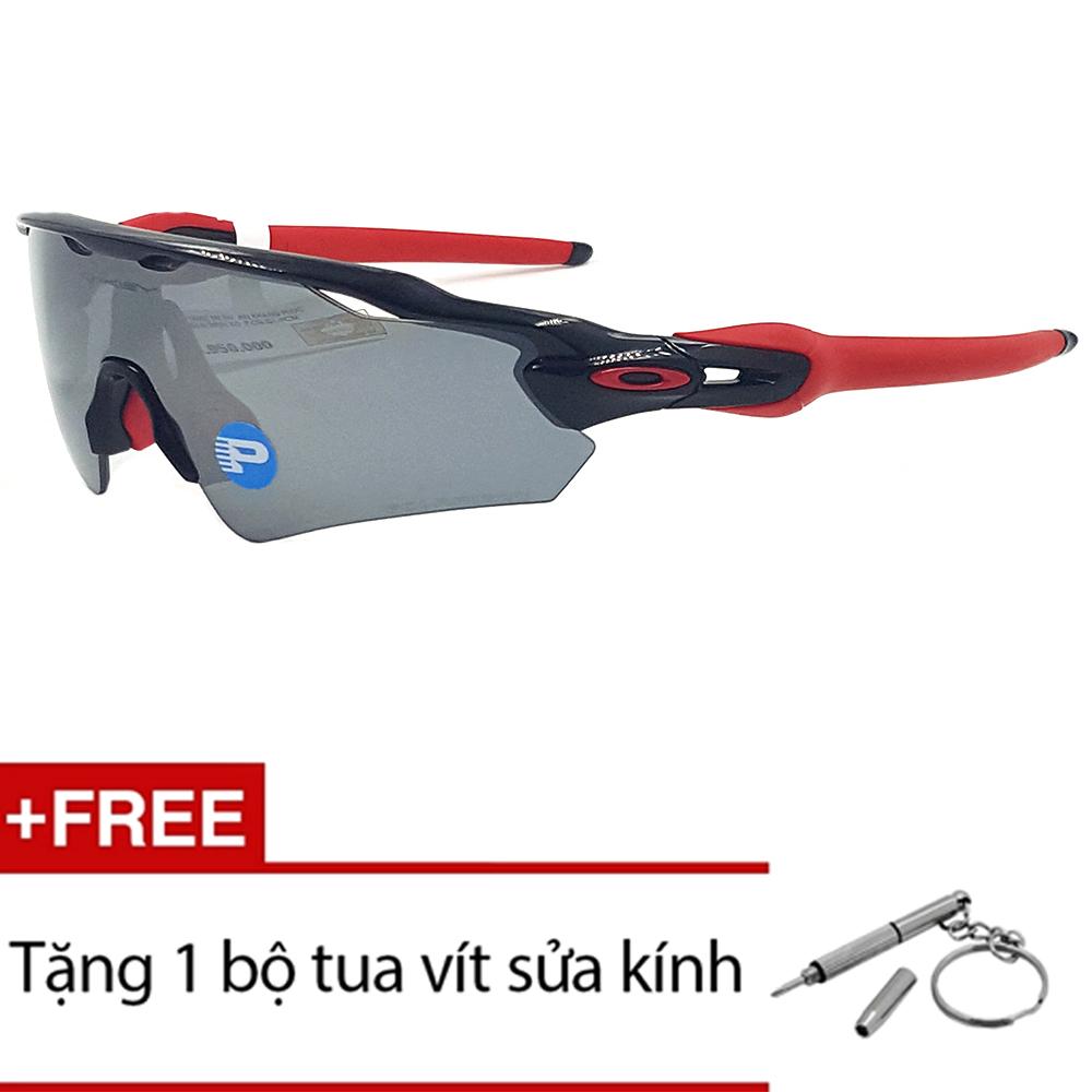 Kính mát Oakley RADAREV OO9275 06 (Đen phối Đỏ) + Tặng 1 bộ tua vít sửa kính