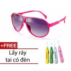 Kính mát thời trang chống tia UV cho bé (Hồng) + 1 ngoáy tai có đèn cao cấp + Tặng 1 băng đô turban nhung cao cấp GSHN