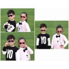Kính mát (râm) thời trang cao cấp chống tia UV cho trẻ em (Xanh dương) + Tặng 1 băng đô turban nhung cao cấp