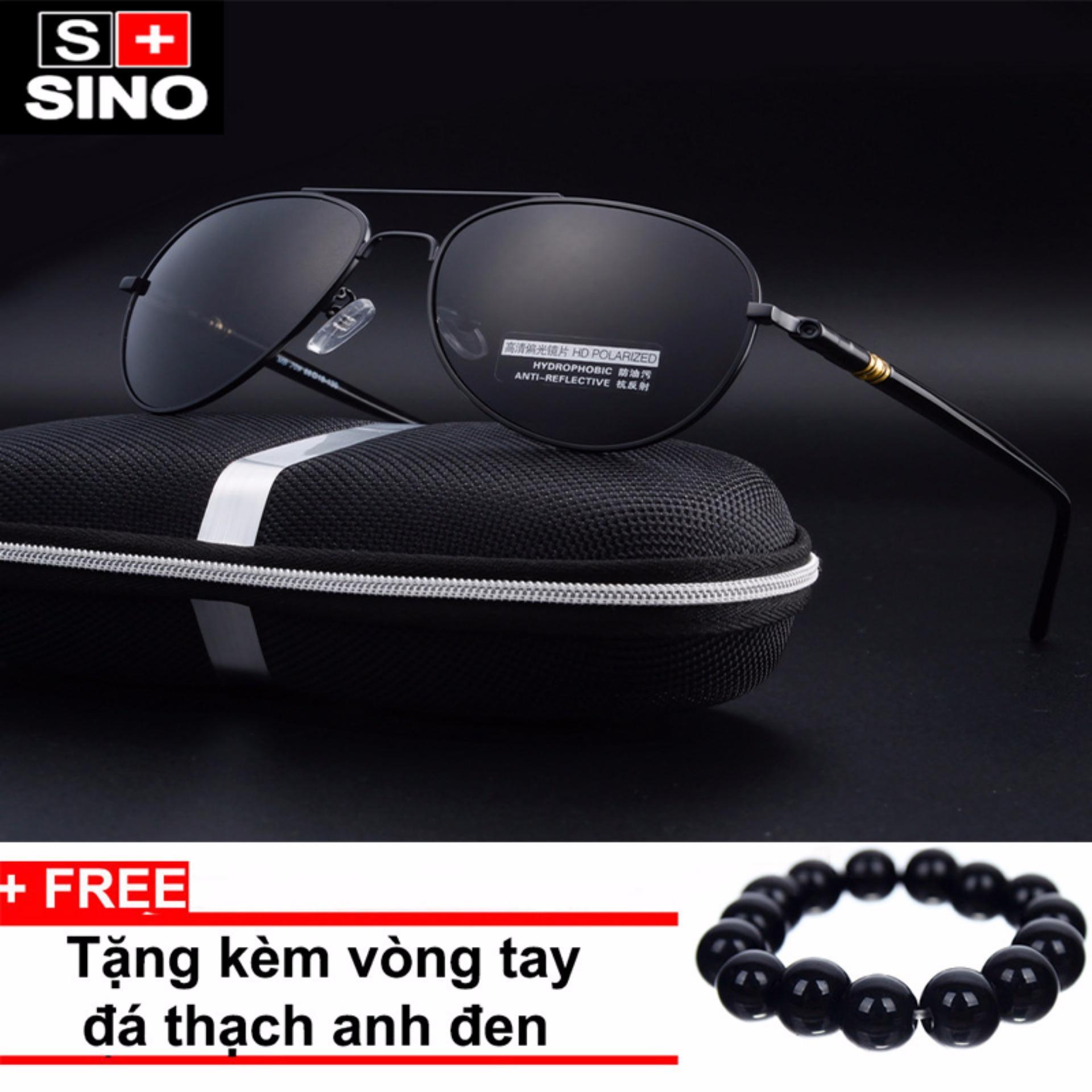 Chi tiết sản phẩm Kính mát thời trang nữ cao cấp Sino SN681+ Tặng kèm vòng tay thạch anh đen