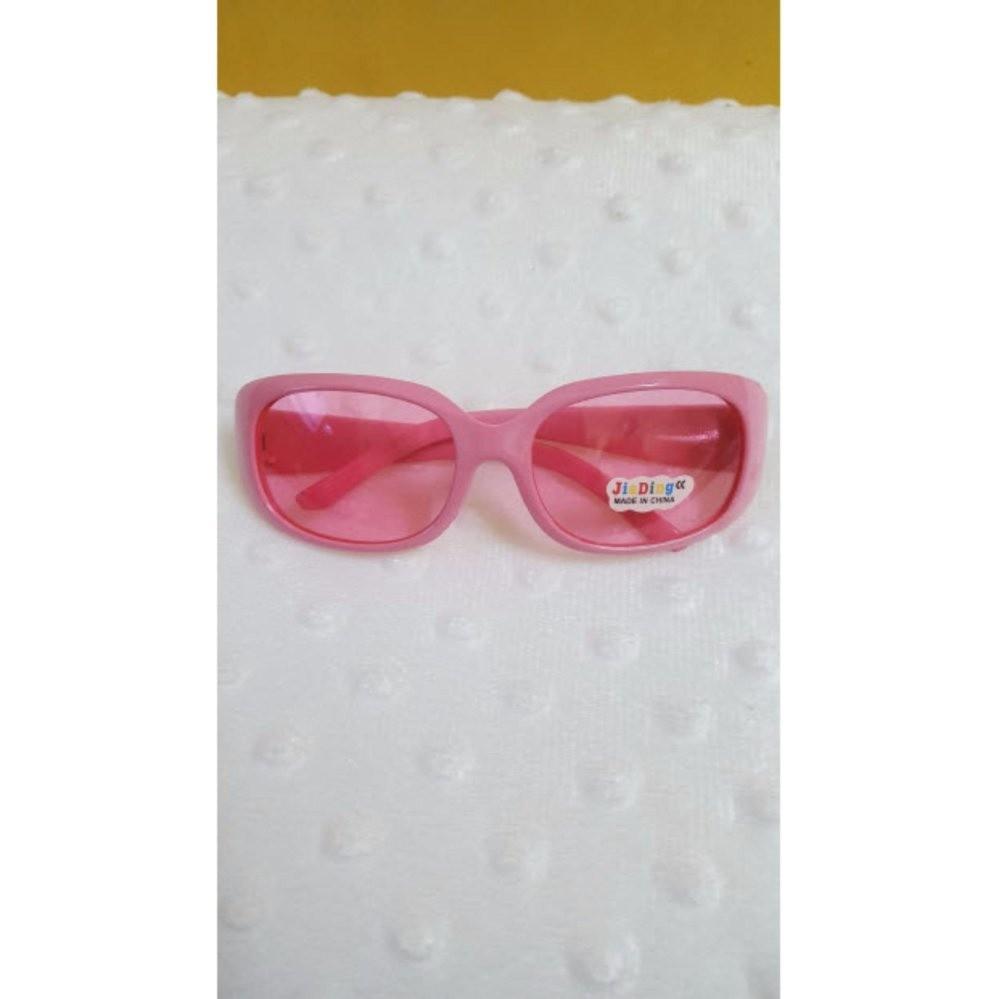 Kính mát trẻ em chống nắng cao cấp mắt vuông (Hồng đậm) GC-0001