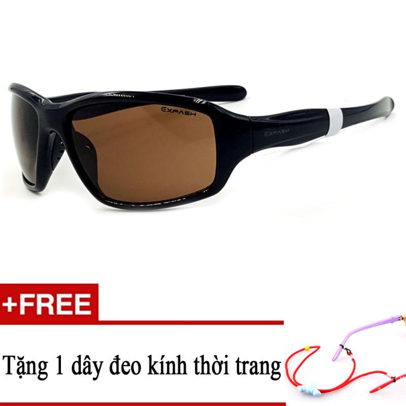Mua Kính mát trẻ em trắng EXFASH EF4743 909 (Đen) + Tặng kèm 1 dây đeo kính trẻ em