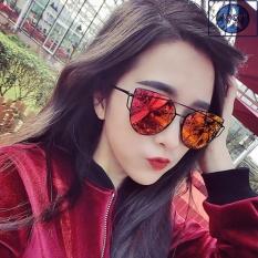 Kính nữ mắt mèo Sino đỏ cá tính+Tặng kèm vòng tay thạch anh đen