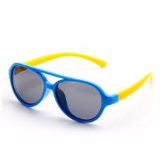 Kính trẻ em gọng dẻo mắt chống tia UV (Xanh dương) + Tặng 1 băng đô turban nhung cao cấp GSHN383