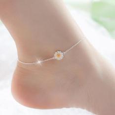 Lắc chân nữ bạc hoa cúc xinh xắn dễ thương HHN-001(Bạc)