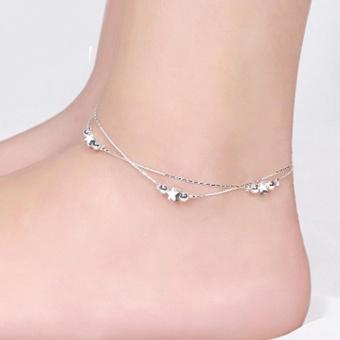 Lắc chân nữ bạc ngôi sao xinh xắn dễ thương HHN-002(Bạc)