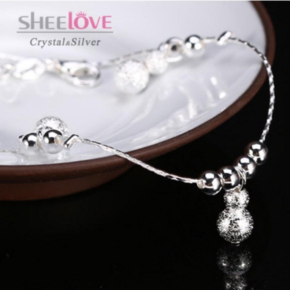 Lắc chân nữ thời trang mạ bạc quả bầu xinh xắn dễ thương HHN-JY015(Bạc)