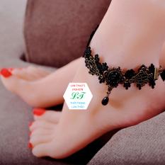 Lắc chân tattoo Valentine xinh xắn LC006 (Đen)