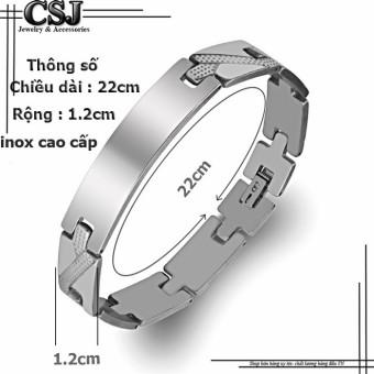 Lắc tay inox nam thời trang Hàn Quốc Độc -Đẹp-Rẻ mẫu LN072