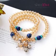 Vòng tay thời trang Hàn Quốc hạt đá cao cấp quả bầu kiểu dáng cổ điển CB-DD895