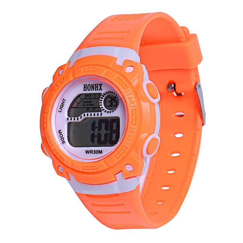 LED Digital Electronic Multifunction Waterproof Children Watch (Orange) - intl bán chạy