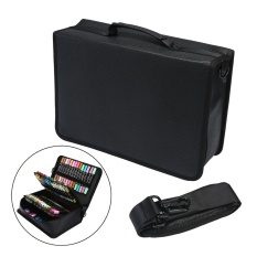 leegoal Marker Carrying Case Lipstick Organizer, 80 Slots Canvas Markers Holder For Primascolor Markers And Copic Sketch Markers,Black – intl