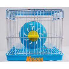 Lồng mini 3 kugoda cho chuột hamster nắp vuông, tròn cao 18cm x dài 20cm x rộng 14cm