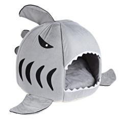Đáng yêu Mềm Mại Cá Mập Miệng Hình Doghouse Thú Cưng Chó Giống với Đệm-quốc tế