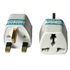 Makiyo UK 3 Pin Travel Plug Socket Adapter Adaptor – intl