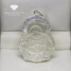Mặt dây chuyền Phật Di lặc Đá Lưu Ly Trắng Phong Thủy Cao Cấp – Thương Hiệu Bảo Tín