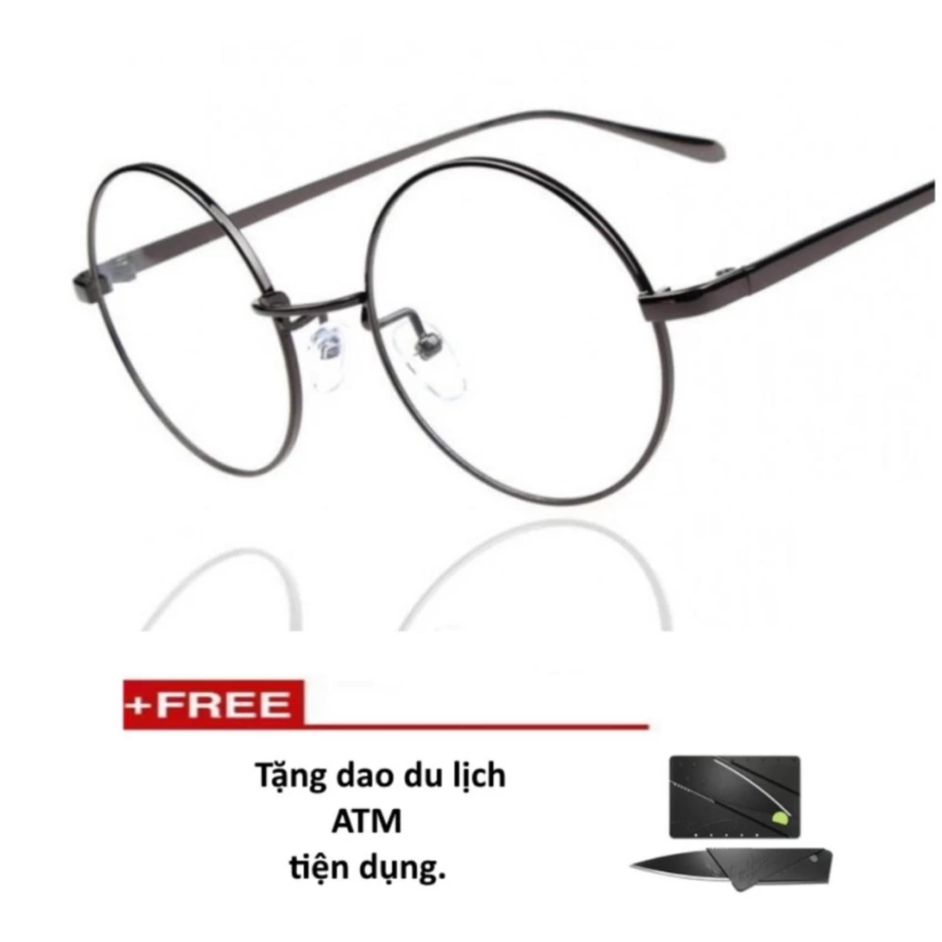 Mắt kính ngố gọng cậnkhông độ Nobita cao cấp (tặng dao thẻ atm)
