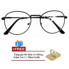 Mắt kính Nobita thời trang (đen) + Tặng kèm giá đỡ điện thoại đa năng